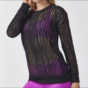 FABLETICS Sophie Tunic Top in Black Power-Lace M